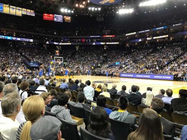 Oracle Arena, secção: 13, fila: A4, lugar: 7