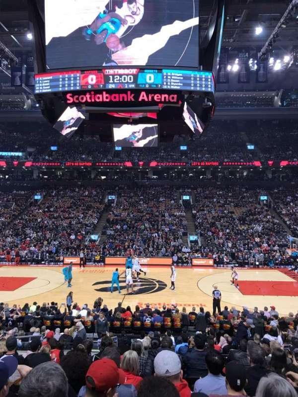 Scotiabank Arena, secção: 108, fila: 17, lugar: 7