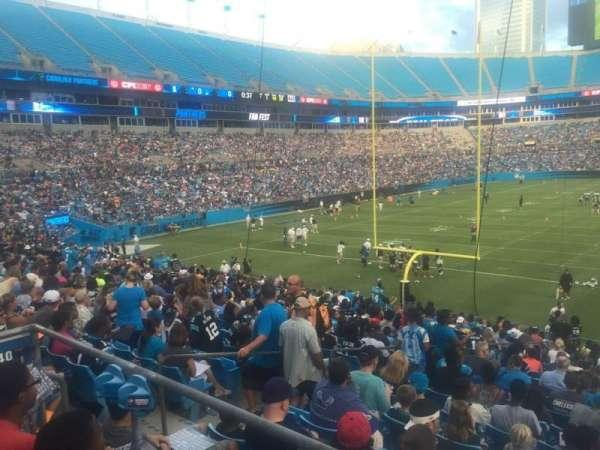 Bank of America Stadium, secção: 110, fila: 20, lugar: 21