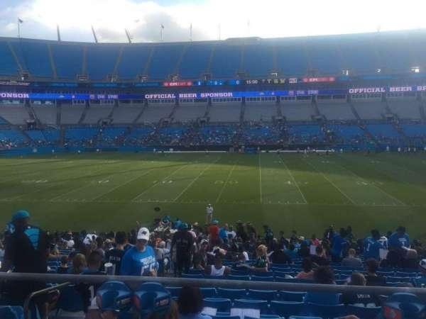 Bank of America Stadium, secção: 111, fila: 21, lugar: 21