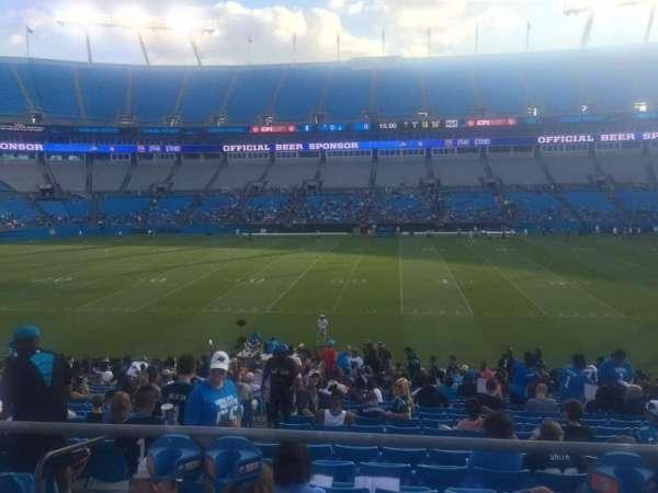 Bank of America Stadium, secção: 111, lugar: 18