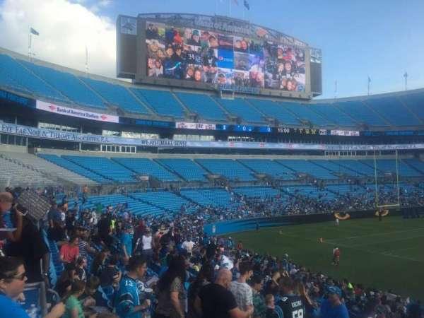 Bank of America Stadium, secção: 112, fila: 21, lugar: 20