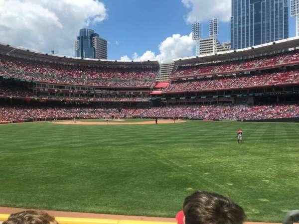 Great American Ball Park, secção: 145, fila: D, lugar: 3