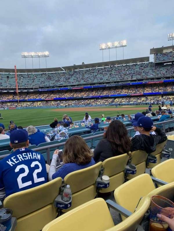 Dodger Stadium, secção: 43FD, fila: C, lugar: 6