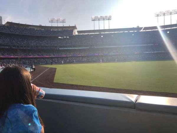Dodger Stadium, secção: 50FD, fila: A, lugar: 4
