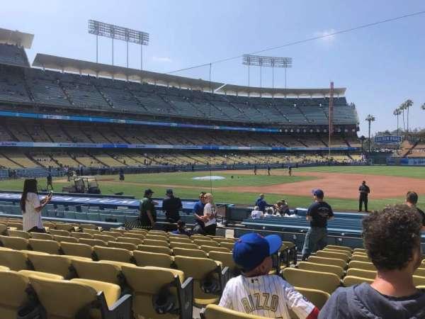 Dodger Stadium, secção: 28FD, fila: K, lugar: 2