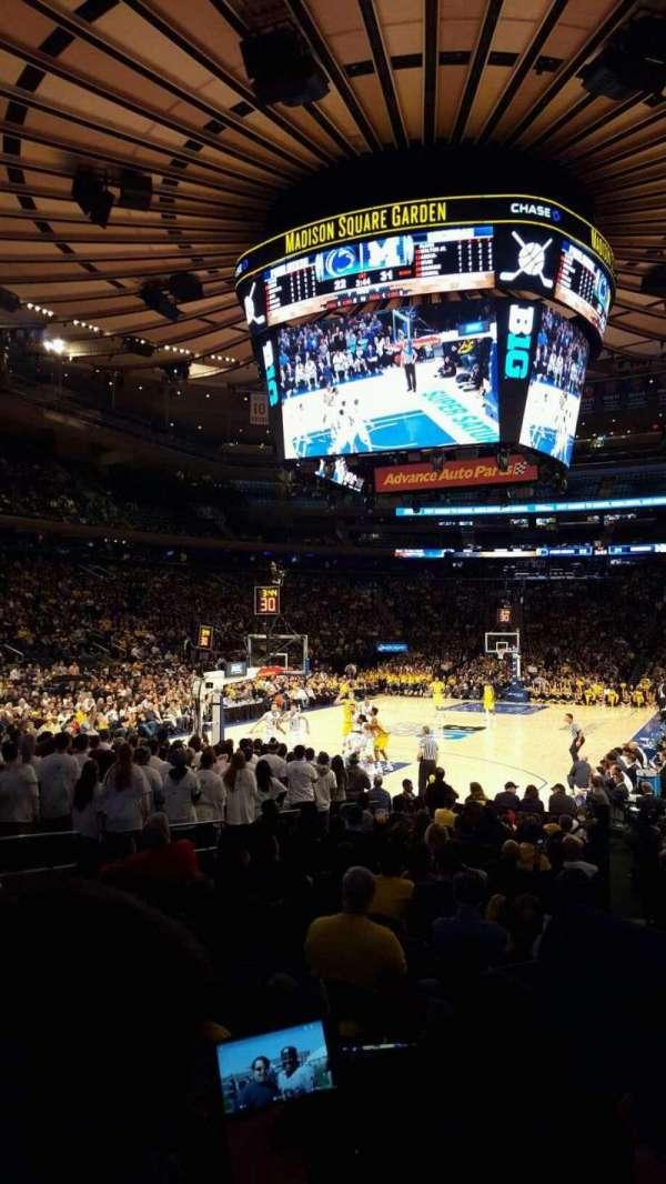 Madison Square Garden, secção: 103, fila: 7, lugar: 14