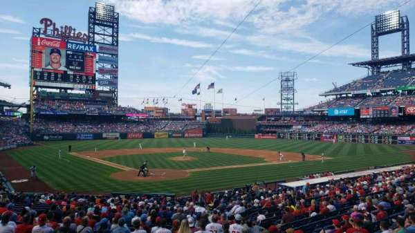 Citizens Bank Park, secção: 122, fila: 27, lugar: 10