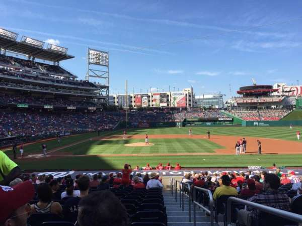Nationals Park, secção: 128, fila: Z, lugar: 1