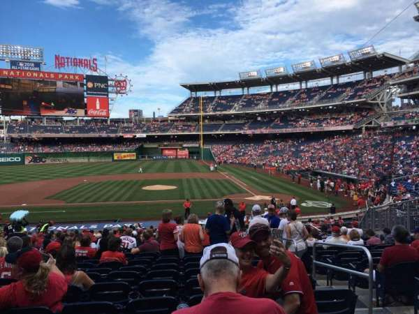 Nationals Park, secção: 117, fila: JJ, lugar: 4