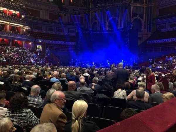 Royal Albert Hall, secção: Stalls, fila: L, lugar: 71