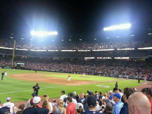 Turner Field, secção: 122, fila: 10, lugar: 9