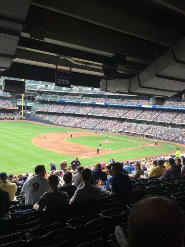 American Family Field, secção: 229, fila: 21, lugar: 15