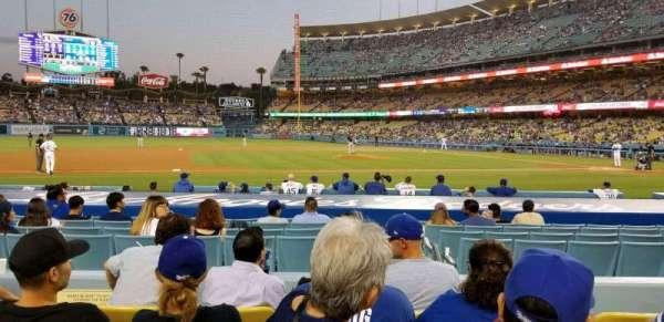 Dodger Stadium, secção: 21FD, fila: E, lugar: 5