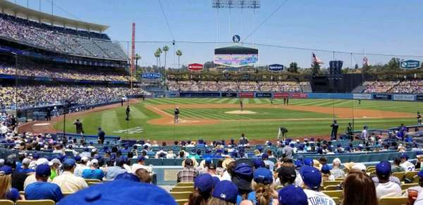 Dodger Stadium, secção: 8FD, fila: P, lugar: 1