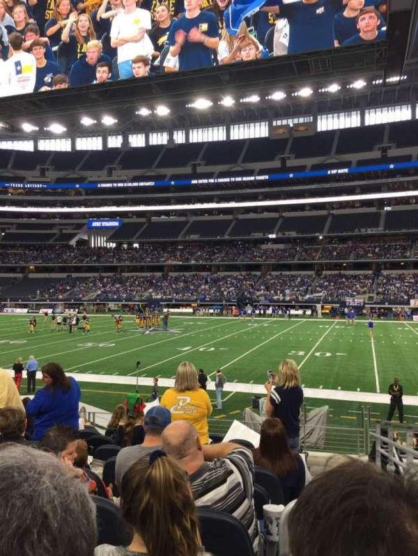 AT&T Stadium, secção: C109, fila: 10, lugar: 2