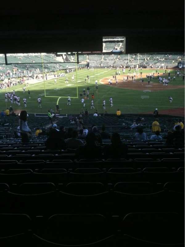 Oakland Coliseum, secção: 128, fila: 38, lugar: 9