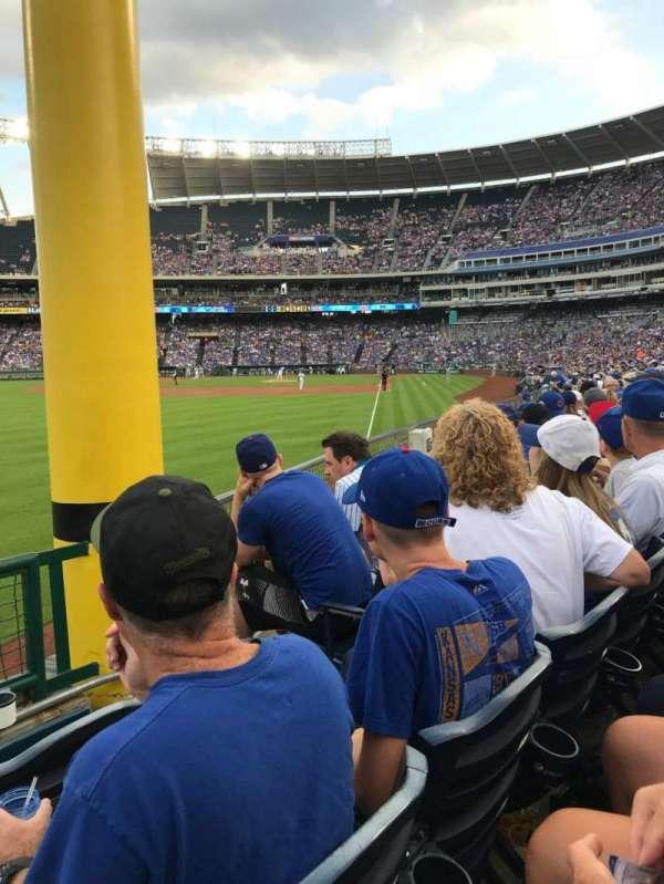 Kauffman Stadium, secção: 208, fila: L, lugar: 4