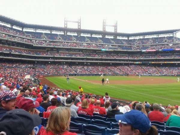 Citizens Bank Park, secção: 110, fila: 19, lugar: 4