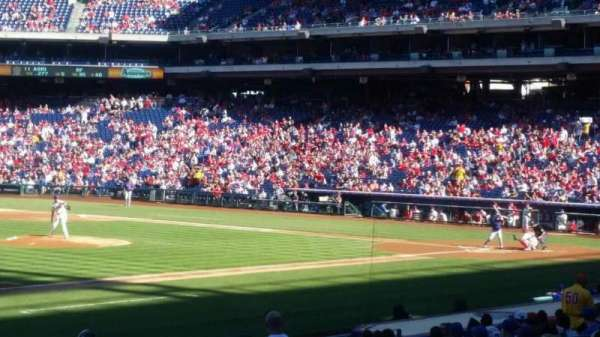 Citizens Bank Park, secção: 134, fila: 24, lugar: 1