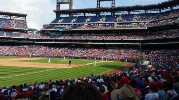 Citizens Bank Park, secção: 137, fila: 20, lugar: 4