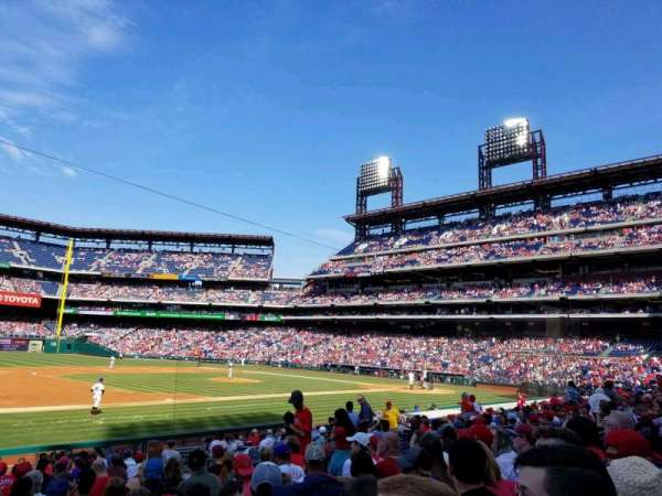 Citizens Bank Park, secção: 133, fila: 19, lugar: 11