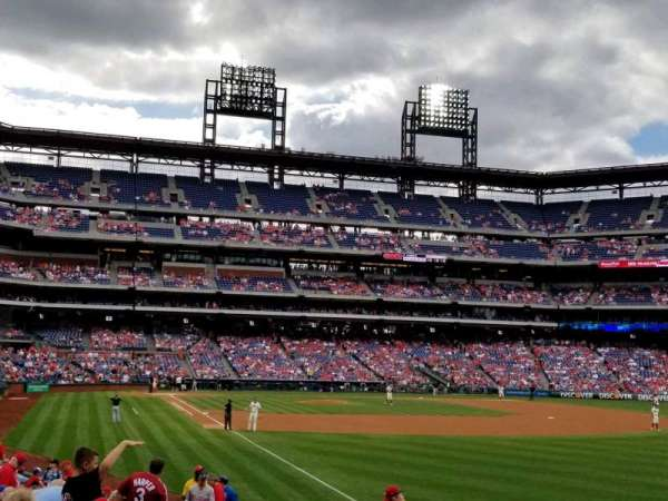 Citizens Bank Park, secção: 108, fila: 21, lugar: 15