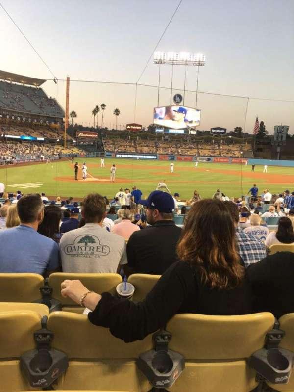 Dodger Stadium, secção: 8FD, fila: M, lugar: 9