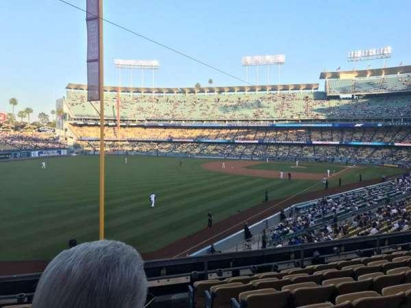 Dodger Stadium, secção: 163LG, fila: G, lugar: 1