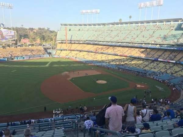 Dodger Stadium, secção: 27RS, fila: L, lugar: 1