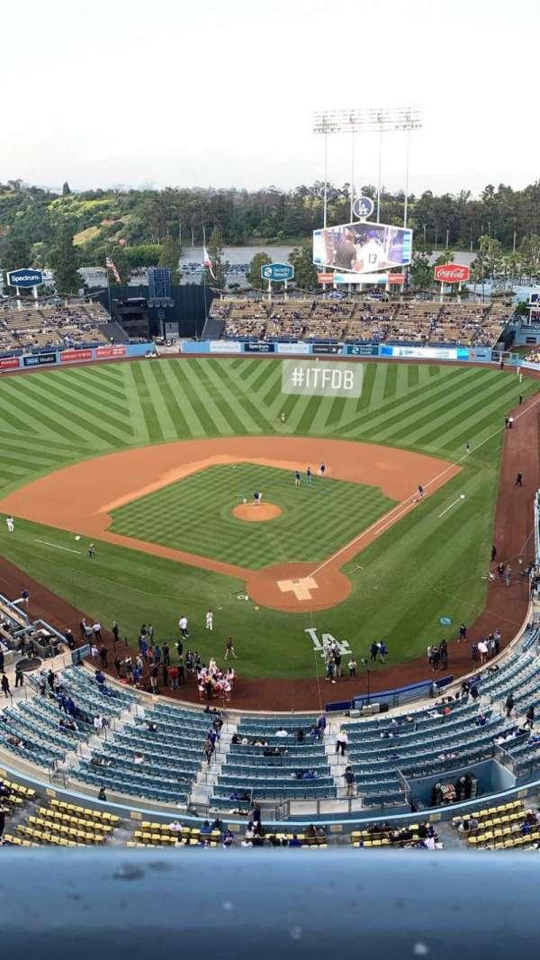 Dodger Stadium, secção: 5TD, fila: A, lugar: 1