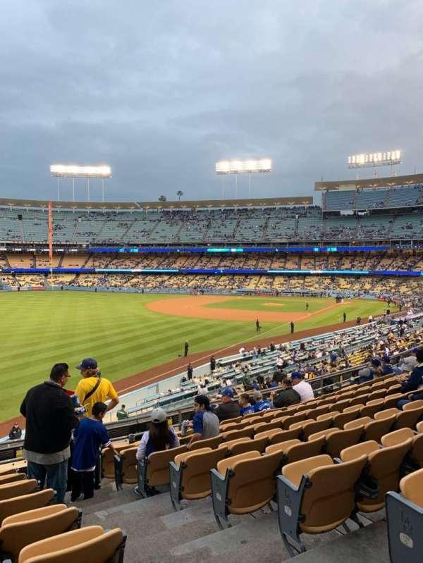 Dodger Stadium, secção: 161LG, fila: J, lugar: 2