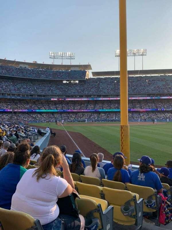 Dodger Stadium, secção: 50FD, fila: G, lugar: 1