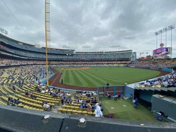 Dodger Stadium, secção: 168LG, fila: A, lugar: 8