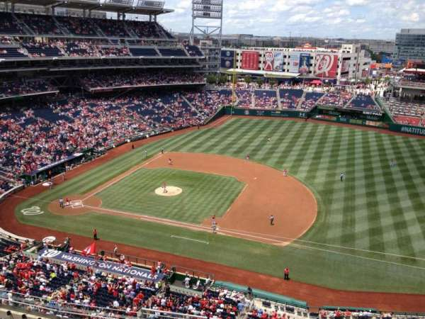 Nationals Park, secção: 420, fila: A, lugar: 13