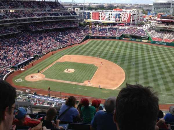 Nationals Park, secção: 420, fila: H, lugar: 20