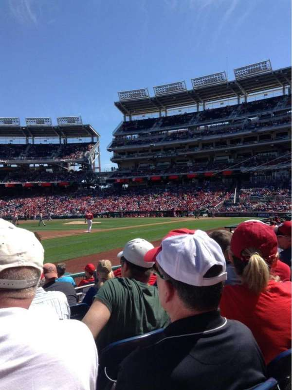 Nationals Park, secção: 113, fila: H, lugar: 12