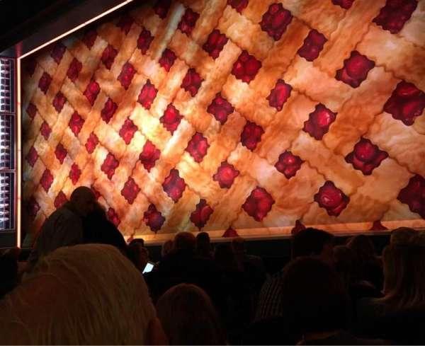 Brooks Atkinson Theatre, secção: Orchestra R, fila: E, lugar: 6