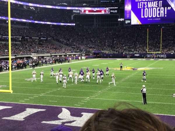 U.S. Bank Stadium, secção: 118, fila: 8, lugar: 16