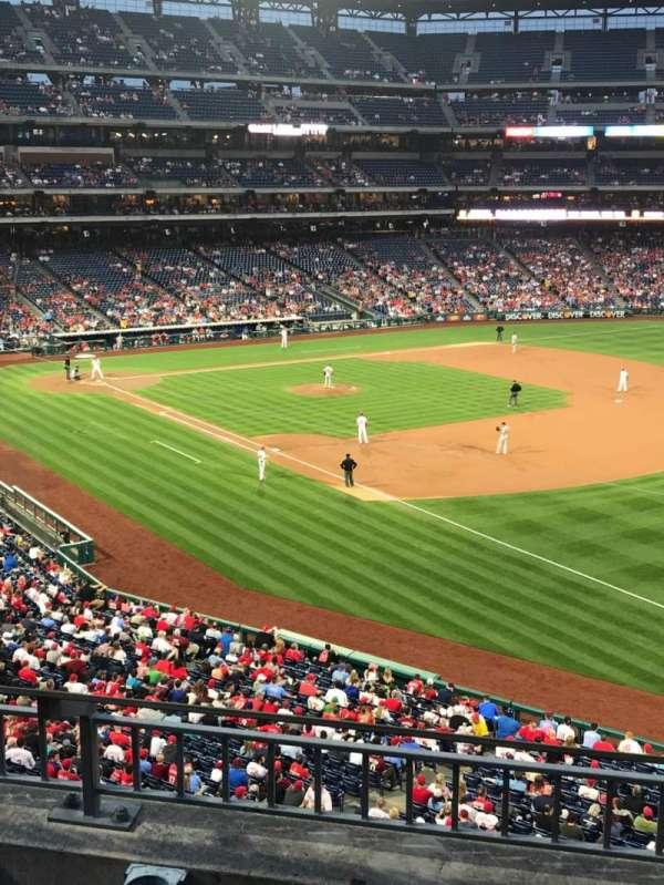 Citizens Bank Park, secção: 209, fila: 3, lugar: 8