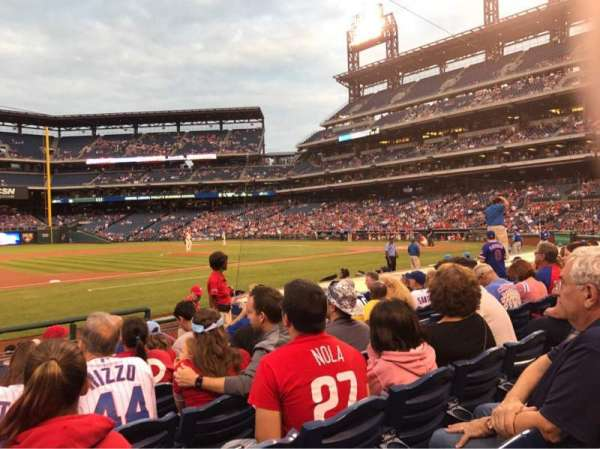 Citizens Bank Park, secção: 132, fila: 7, lugar: 7