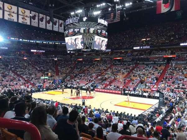 FTX Arena, secção: 104, fila: 20, lugar: 16