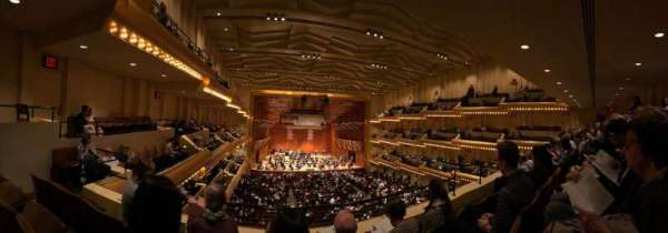 David Geffen Hall, secção: Second Tier, fila: CC, lugar: 11