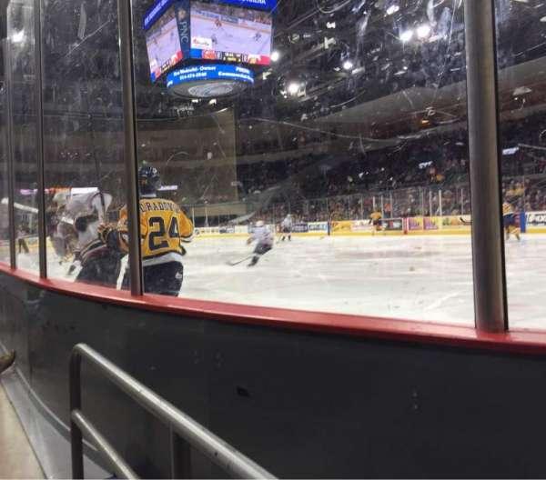 Erie Insurance Arena, secção: 122, fila: A, lugar: 6