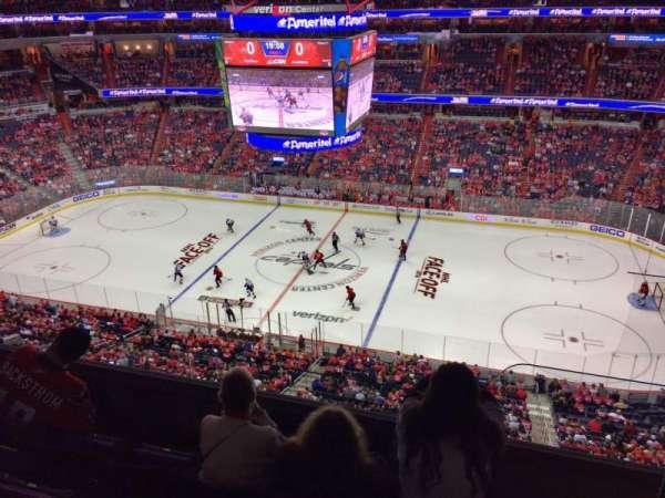 Capital One Arena, secção: 419, fila: D