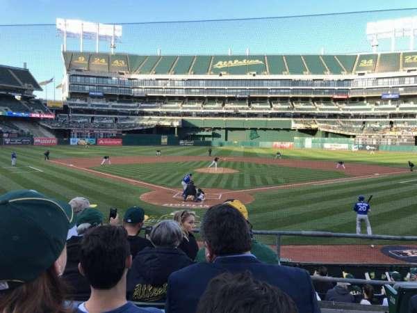 Oakland Coliseum, secção: 117, fila: 17, lugar: 1