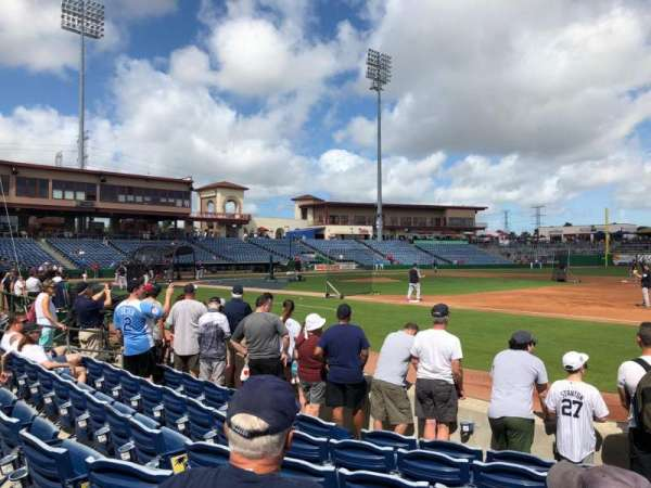 BayCare Ballpark, secção: 104, fila: 7, lugar: 1