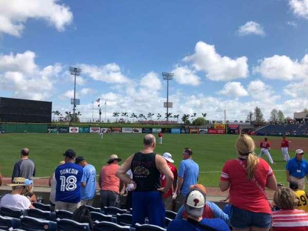 BayCare Ballpark, secção: 120, fila: 7, lugar: 4