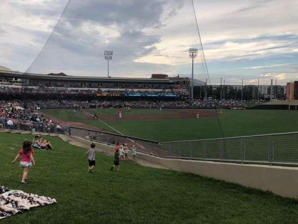 Day Air Ballpark, secção: Lawn, fila: A, lugar: 3