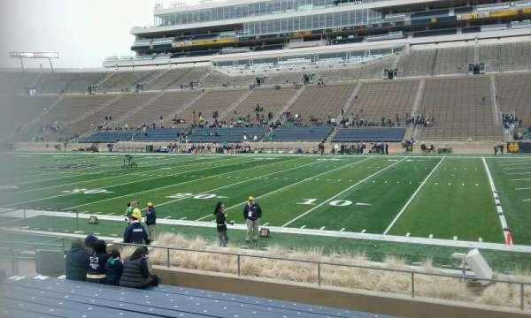 Notre Dame Stadium, secção: 7, fila: 17, lugar: 10